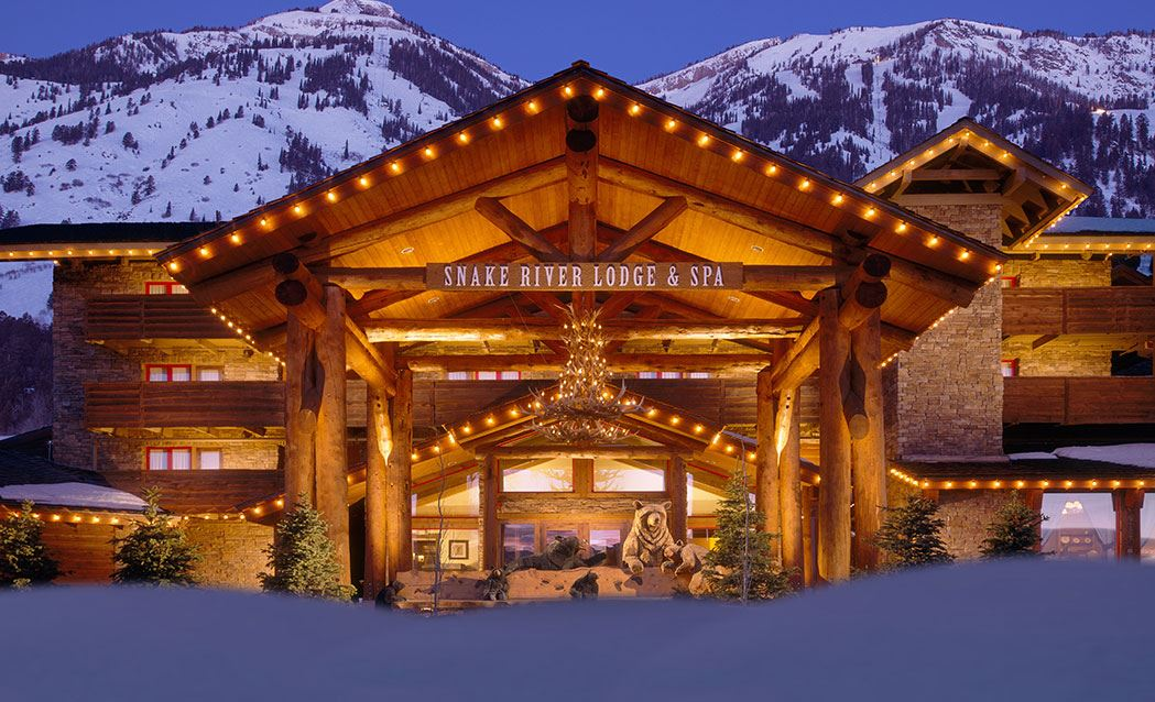 Snake River Lodge & Spa - View of the Main Entrance in the Winter