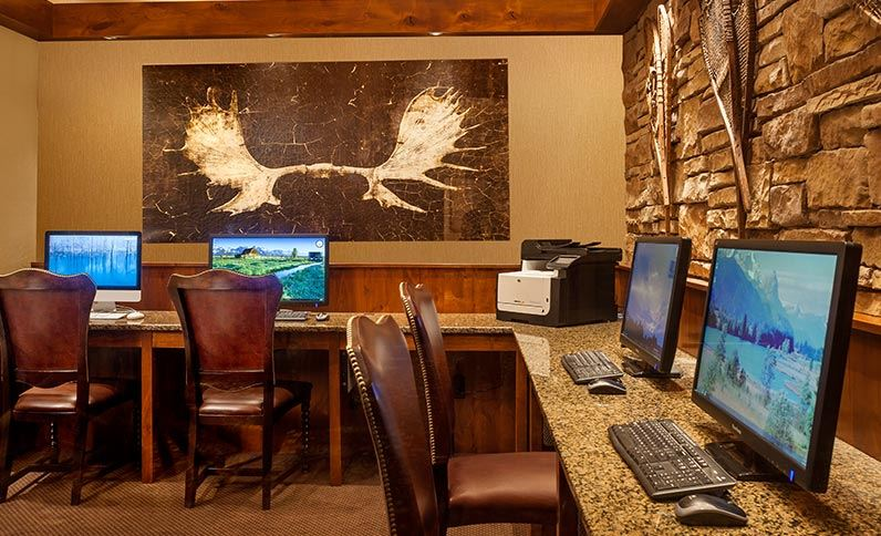 Business Center at Snake River Lodge & Spa, Teton Village