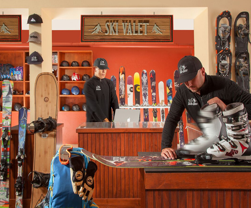 Full Service Ski Valet at Snake River Lodge & Spa, Teton Village