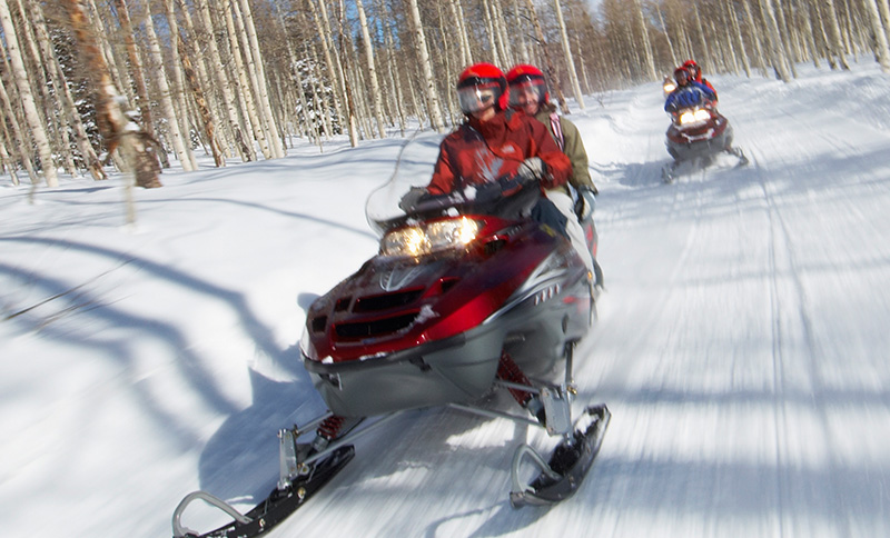 Snowmobiling at Wyoming