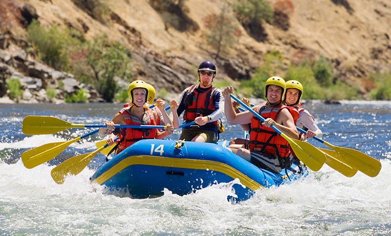 Whitewater Rafting in Teton Village