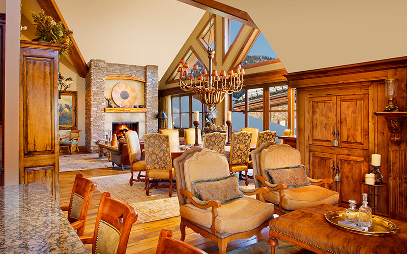 Four Bedroom Penthouse Residence in Snake River Lodge & Spa, Teton Village