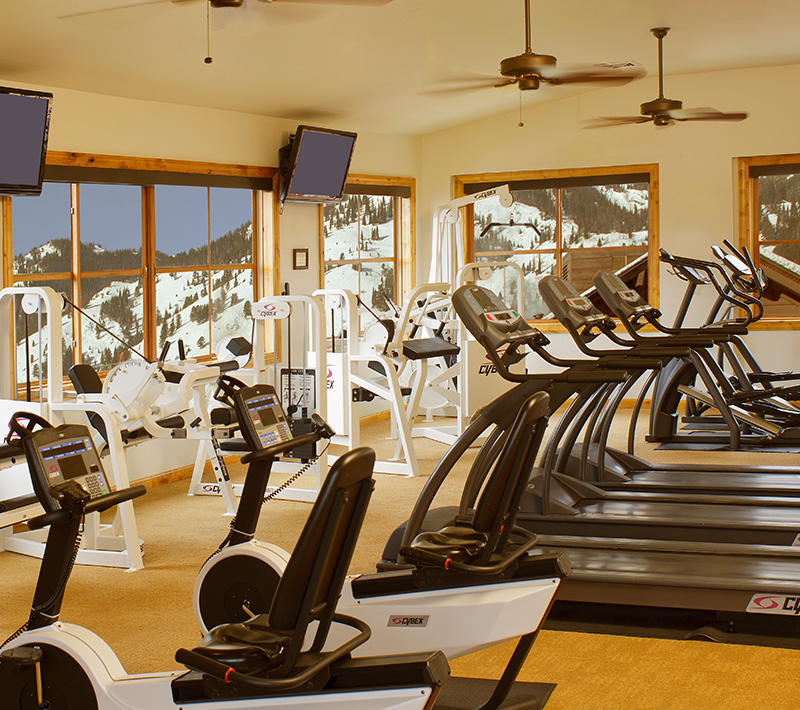 State of the Art Fitness Center at Snake River Lodge & Spa, Teton Village